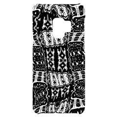 Abstract Black And White Stripes Checkered Pattern Samsung S9 Black Uv Print Case