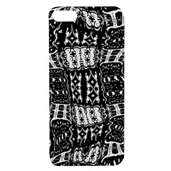 Abstract Black And White Stripes Checkered Pattern Apple Iphone 7/8 Tpu Uv Case by SpinnyChairDesigns