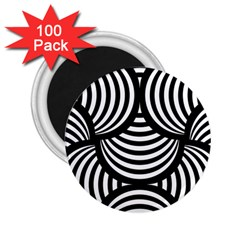 Abstract Black And White Shell Pattern 2 25  Magnets (100 Pack)  by SpinnyChairDesigns