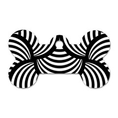 Abstract Black And White Shell Pattern Dog Tag Bone (one Side) by SpinnyChairDesigns