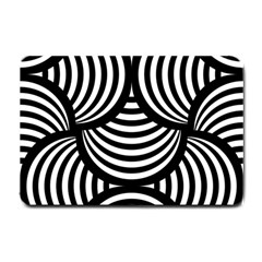 Abstract Black And White Shell Pattern Small Doormat  by SpinnyChairDesigns
