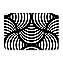 Abstract Black And White Shell Pattern Plate Mats by SpinnyChairDesigns