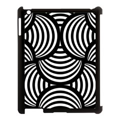 Abstract Black And White Shell Pattern Apple Ipad 3/4 Case (black) by SpinnyChairDesigns
