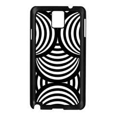Abstract Black And White Shell Pattern Samsung Galaxy Note 3 N9005 Case (black) by SpinnyChairDesigns
