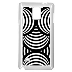 Abstract Black And White Shell Pattern Samsung Galaxy Note 4 Case (white) by SpinnyChairDesigns