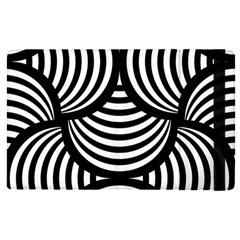 Abstract Black And White Shell Pattern Apple Ipad Pro 12 9   Flip Case by SpinnyChairDesigns