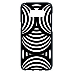 Abstract Black And White Shell Pattern Samsung Galaxy S8 Plus Black Seamless Case