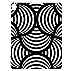 Abstract Black And White Shell Pattern Apple Ipad Pro 12 9   Black Uv Print Case by SpinnyChairDesigns