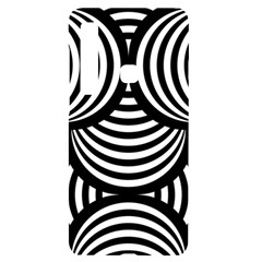 Abstract Black And White Shell Pattern Samsung A9 Black Uv Print Case