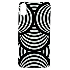 Abstract Black And White Shell Pattern Apple Iphone Xs Tpu Uv Case by SpinnyChairDesigns