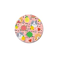 Cats And Fruits  Golf Ball Marker (10 Pack) by Sobalvarro