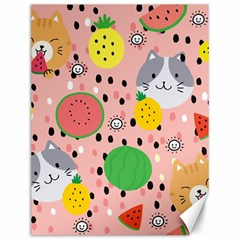 Cats And Fruits  Canvas 12  X 16  by Sobalvarro
