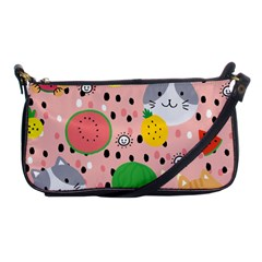 Cats And Fruits  Shoulder Clutch Bag by Sobalvarro