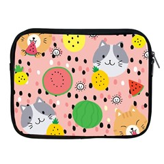 Cats And Fruits  Apple Ipad 2/3/4 Zipper Cases by Sobalvarro