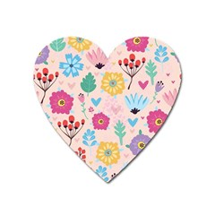 Tekstura-fon-tsvety-berries-flowers-pattern-seamless Heart Magnet by Sobalvarro