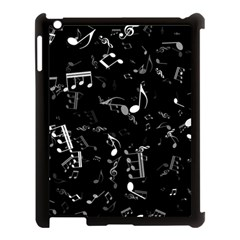 Black And White Music Notes Apple Ipad 3/4 Case (black)