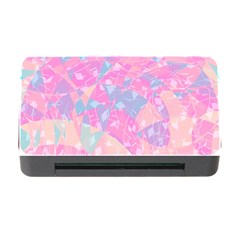 Pink Blue Peach Color Mosaic Memory Card Reader With Cf