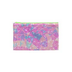 Pink Blue Peach Color Mosaic Cosmetic Bag (xs) by SpinnyChairDesigns