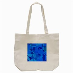 Electric Blue Geometric Pattern Tote Bag (cream) by SpinnyChairDesigns