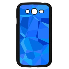 Electric Blue Geometric Pattern Samsung Galaxy Grand Duos I9082 Case (black)