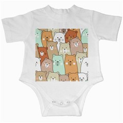 Colorful-baby-bear-cartoon-seamless-pattern Infant Creepers by Sobalvarro