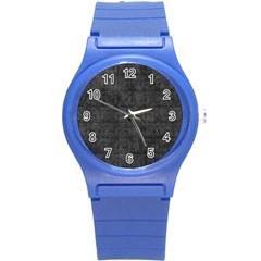 Matte Charcoal Black Color  Round Plastic Sport Watch (s)