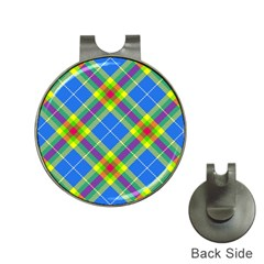 Clown Costume Plaid Striped Hat Clips With Golf Markers by SpinnyChairDesigns