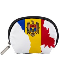 Flag Map Of Moldova Accessory Pouch (small) by abbeyz71