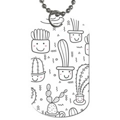 Cactus Dog Tag (two Sides)