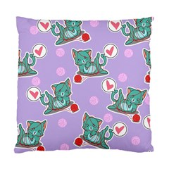 Playing Cats Standard Cushion Case (two Sides)