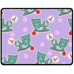 Playing Cats Double Sided Fleece Blanket (medium)