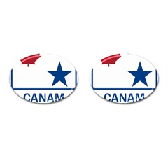 Canam Highway Shield  Cufflinks (oval)