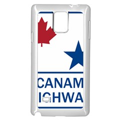 Canam Highway Shield  Samsung Galaxy Note 4 Case (white) by abbeyz71