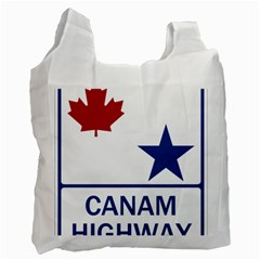 Canam Highway Shield  Recycle Bag (two Side) by abbeyz71