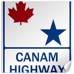Canam Highway Shield  Canvas 12  X 12  by abbeyz71