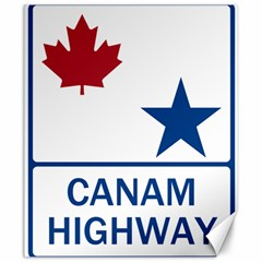 Canam Highway Shield  Canvas 20  X 24  by abbeyz71