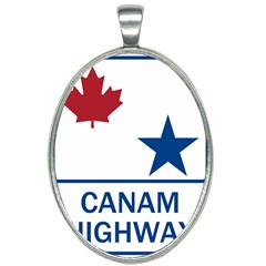 Canam Highway Shield  Oval Necklace by abbeyz71