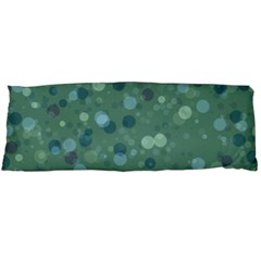 Green Color Polka Dots Pattern Body Pillow Case Dakimakura (two Sides) by SpinnyChairDesigns