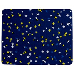White Yellow Stars On Blue Color Jigsaw Puzzle Photo Stand (rectangular) by SpinnyChairDesigns
