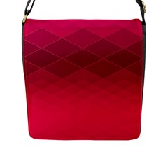 Hot Pink And Wine Color Diamonds Flap Closure Messenger Bag (l) by SpinnyChairDesigns