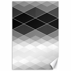 Black White Grey Color Diamonds Canvas 20  X 30