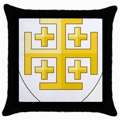 Arms Of The Kingdom Of Jerusalem Throw Pillow Case (black) by abbeyz71