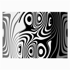 Black And White Abstract Stripes Large Glasses Cloth by SpinnyChairDesigns