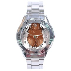 Sexy Boobs Breast Cleavage Woman Stainless Steel Analogue Watch