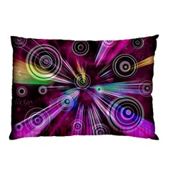 Fractal Circles Abstract Pillow Case (two Sides)