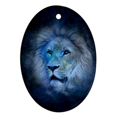 Astrology Zodiac Lion Oval Ornament (two Sides)