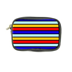 Red And Blue Contrast Yellow Stripes Coin Purse by tmsartbazaar