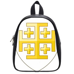 Arms Of The Kingdom Of Jerusalem School Bag (small) by abbeyz71