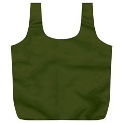 Army Green Solid Color Full Print Recycle Bag (xl)
