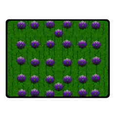 Power To The Big Flowers Festive Fleece Blanket (small)
